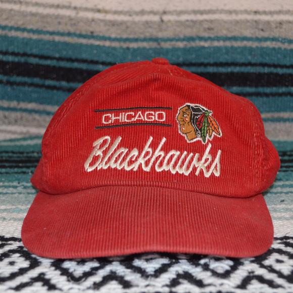 3b8b3d9b Vintage Chicago Blackhawks Corduroy Hat. M_5ac719e62c705df5efda8728
